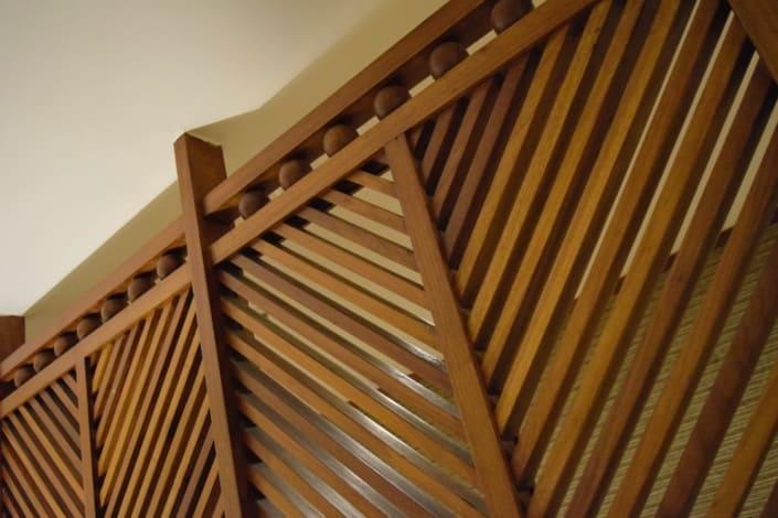 Jorge de Souza Hue - Biombo madeira envernizada - Arte
